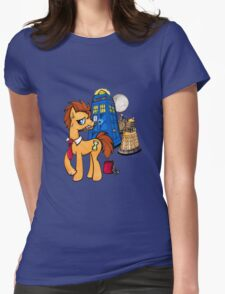 Doctor Whooves - Black Womens Fitted T-Shirt