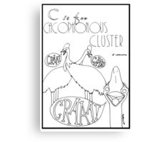 C is for Cacophonous Cluster of Cassowaries Canvas Print
