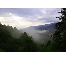 Misty Mountain Valley Photographic Print