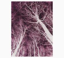 Branches Dark Pink Kids Tee