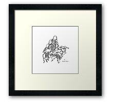 Amoeba Dance - pigment ink on paper Framed Print