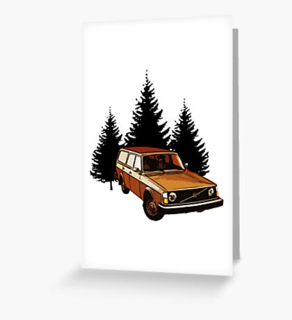 volvo 200 wagon Greeting Card