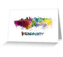 Vancouver skyline in watercolor Greeting Card