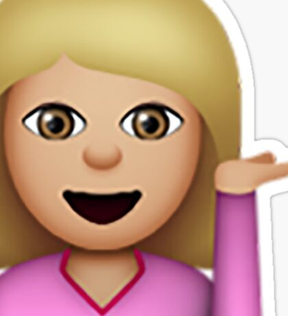 Blond Hair Toss Emoji Sticker