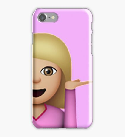 Blond Hair Toss Emoji iPhone Case/Skin