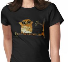 Who Me? Owl Womens Fitted T-Shirt