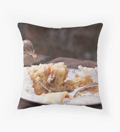 Cheeky Bird. Throw Pillow