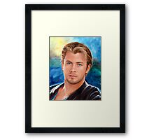 Chris Hemsworth Art Framed Print