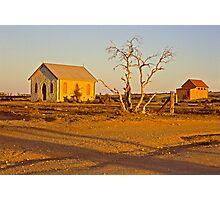 Sunset over Silverton landscape - NSW  Photographic Print