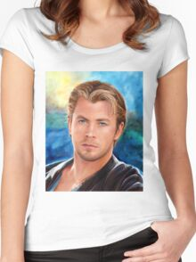 Chris Hemsworth Art Women's Fitted Scoop T-Shirt