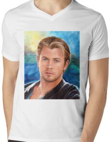 Chris Hemsworth Art Mens V-Neck T-Shirt
