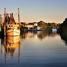 Fishing Boats at Cabbage Tree Creek by Renate Hottmann-Schaefer