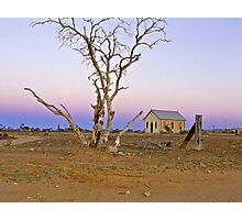 Dusk over Silverton landscape - NSW  Photographic Print