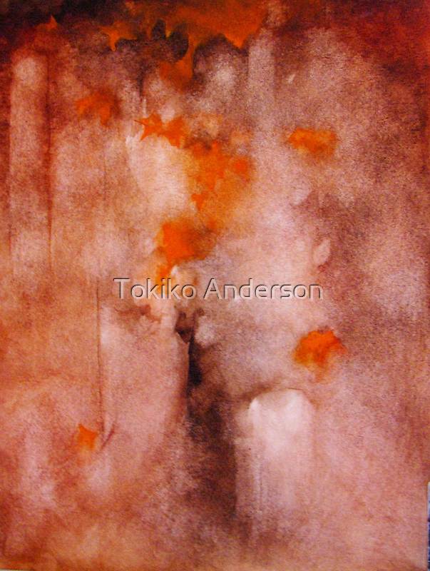 autumn leaves  * special order prints: tokikoandersonart@gmail.com	 by TokikoAnderson