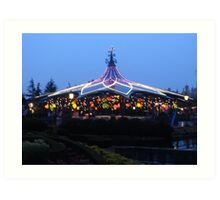 teacups at Disneyland Paris Art Print