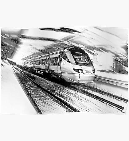 The Gautrain - High Speed Commuter Rail. Poster