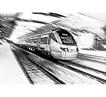 The Gautrain - High Speed Commuter Rail. Photographic Print