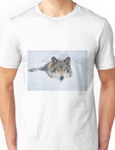Timber Wolf In Snow Unisex T-Shirt