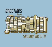 Greetings from Saffron City Kids Tee