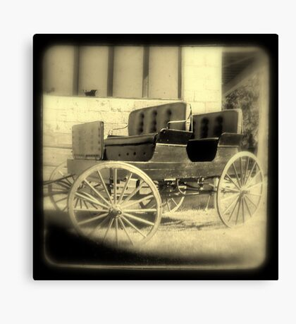 Wagon in sepia w/soft focus Canvas Print