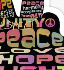 Peace tshirts Sticker
