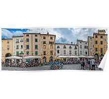 The Piazza of Lucca Italy Poster