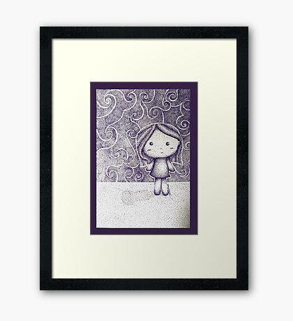 Dotty Doll Framed Print