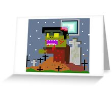 pixel zombie  Greeting Card