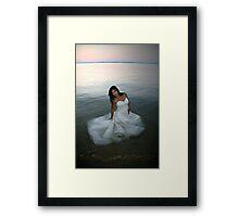 Floating Dress Framed Print