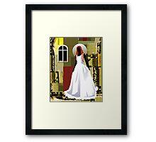 The wedding woman Framed Print