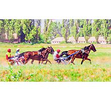 Crazy racing Photographic Print