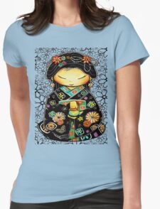 Little Multicolour Teapot Floral  Womens Fitted T-Shirt
