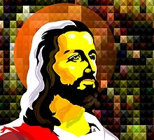 Jesus Christ symbol of Love and peace	 by tillydesign