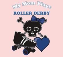 My Mom Plays Roller Derby (Girl) One Piece - Short Sleeve