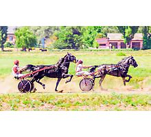 Synchronous horse racing Photographic Print