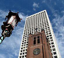 San Francisco Chinatown juxtaposition by David Galson