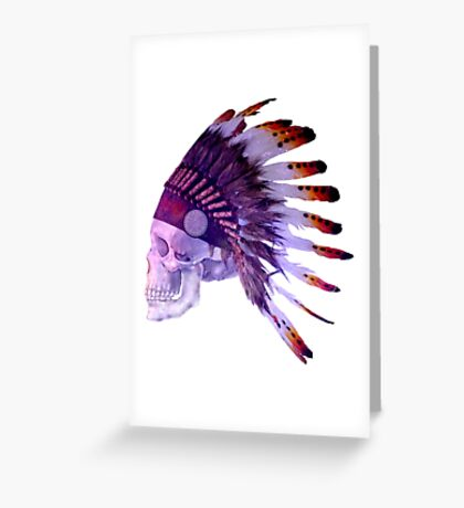 Spiritual Skull Greeting Card