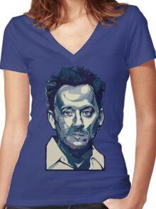 Ben Linus II Women's Fitted V-Neck T-Shirt