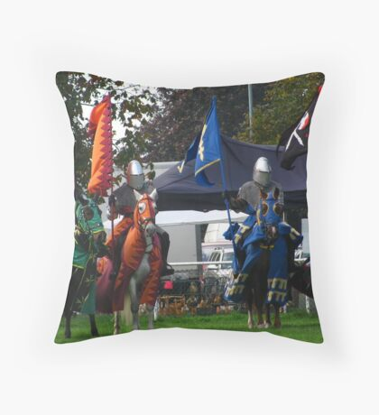 Knights Of The Damned Throw Pillow
