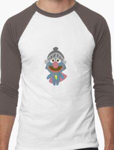 Baby grover in armor baby bodysuits geek funny nerd Men's Baseball ¾ T-Shirt