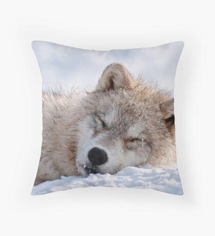 I lay my head down to sleep Throw Pillow