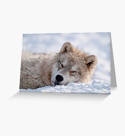 I lay my head down to sleep Greeting Card