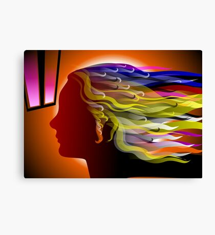 The beauty of woman with hair in different colours Canvas Print
