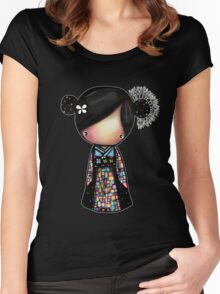 patchwork kimono Women's Fitted Scoop T-Shirt