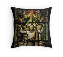 Ipswich Stained Glass Throw Pillow