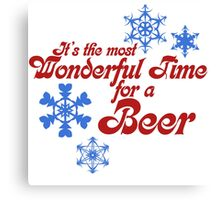 Most wonderful time for a beer Canvas Print