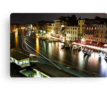 Venice Nightlife Canvas Print