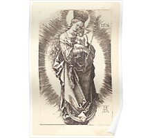 Albrecht Dürer or Durer The Virgin and Child on a Crescent with a Sceptre and a Starry Crown Poster