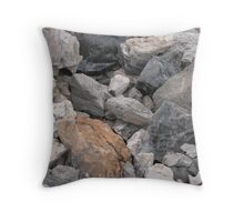 Multi-Colored Volcanic Rocks Throw Pillow