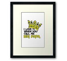 Big papa geek funny nerd Framed Print